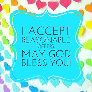 I accept reasonable offers!💗